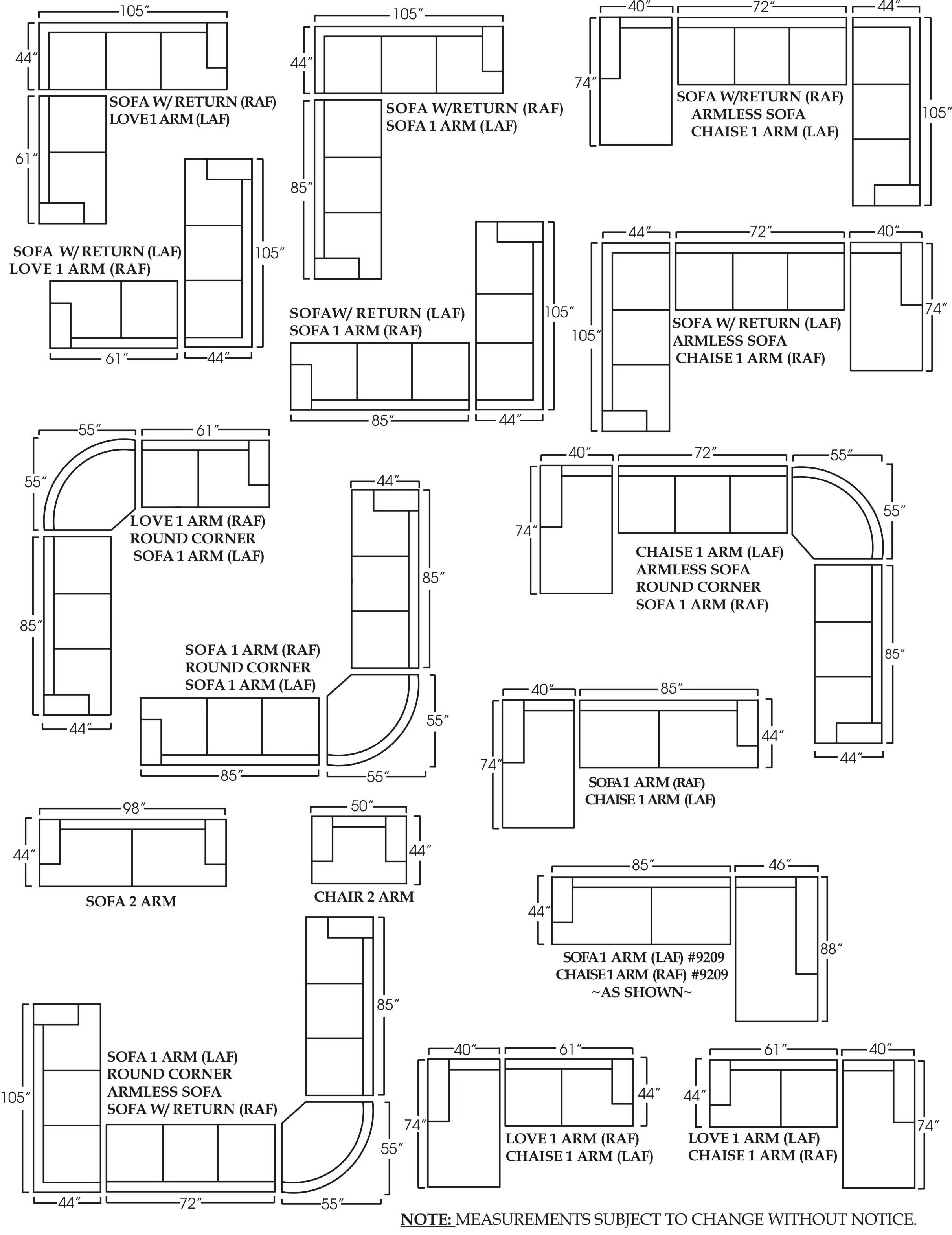 Best Of Sectional Sofa Measurements - Buildsimplehome regarding Measurements Sectional Sofas (Image 3 of 10)