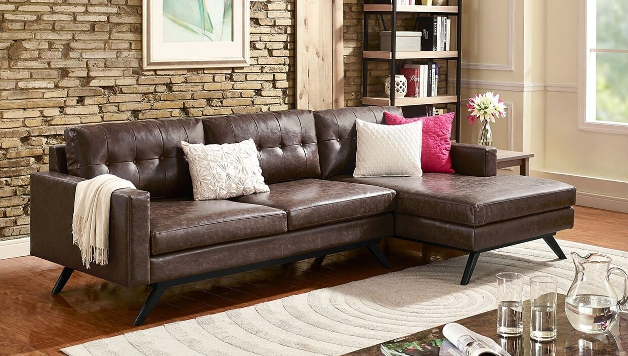 Best Sectional Sofas For Small Spaces - Overstock intended for Overstock Sectional Sofas (Image 2 of 10)