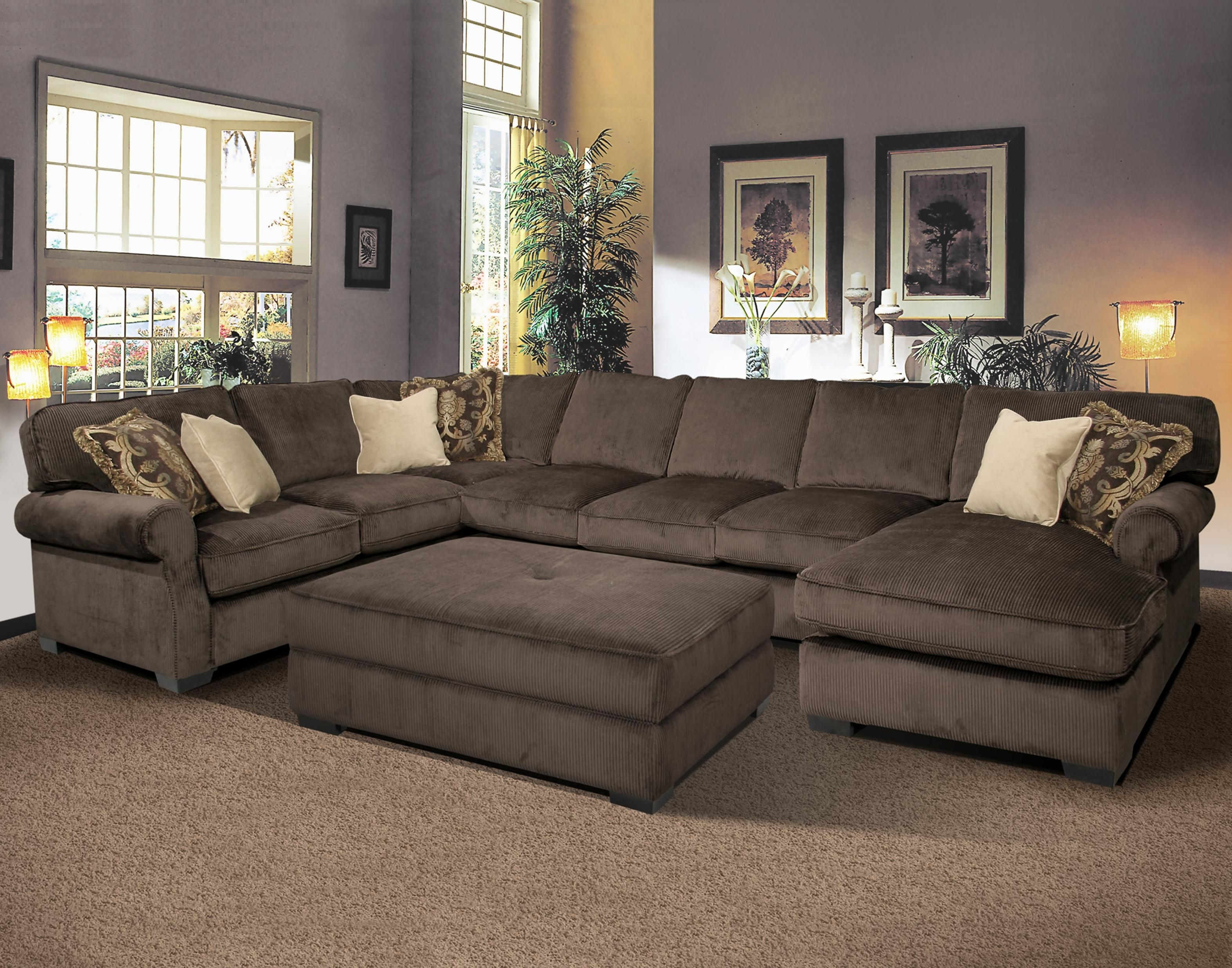 Big And Comfy Grand Island Large, 7 Seat Sectional Sofa With Right within Large Sectional Sofas (Image 1 of 10)