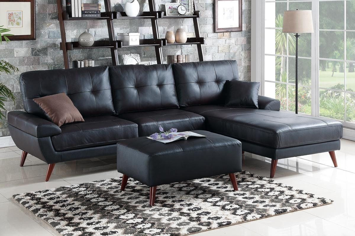 Black Leather Sectional Sofa – Steal A Sofa Furniture Outlet Los Intended For Los Angeles Sectional Sofas (View 8 of 10)