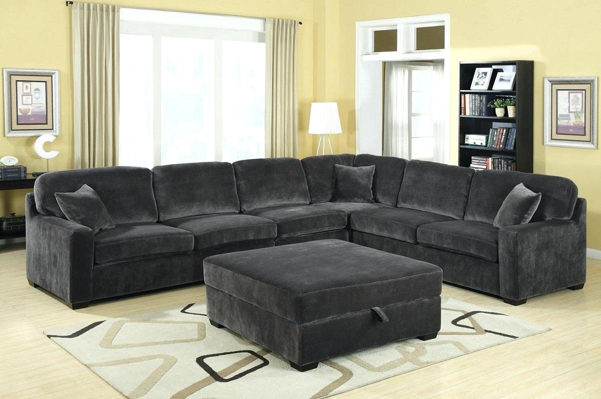Black Sectional Couch Microfiber Sofa With Chaise Leather Cheap inside Red Leather Sectional Sofas With Recliners (Image 2 of 15)