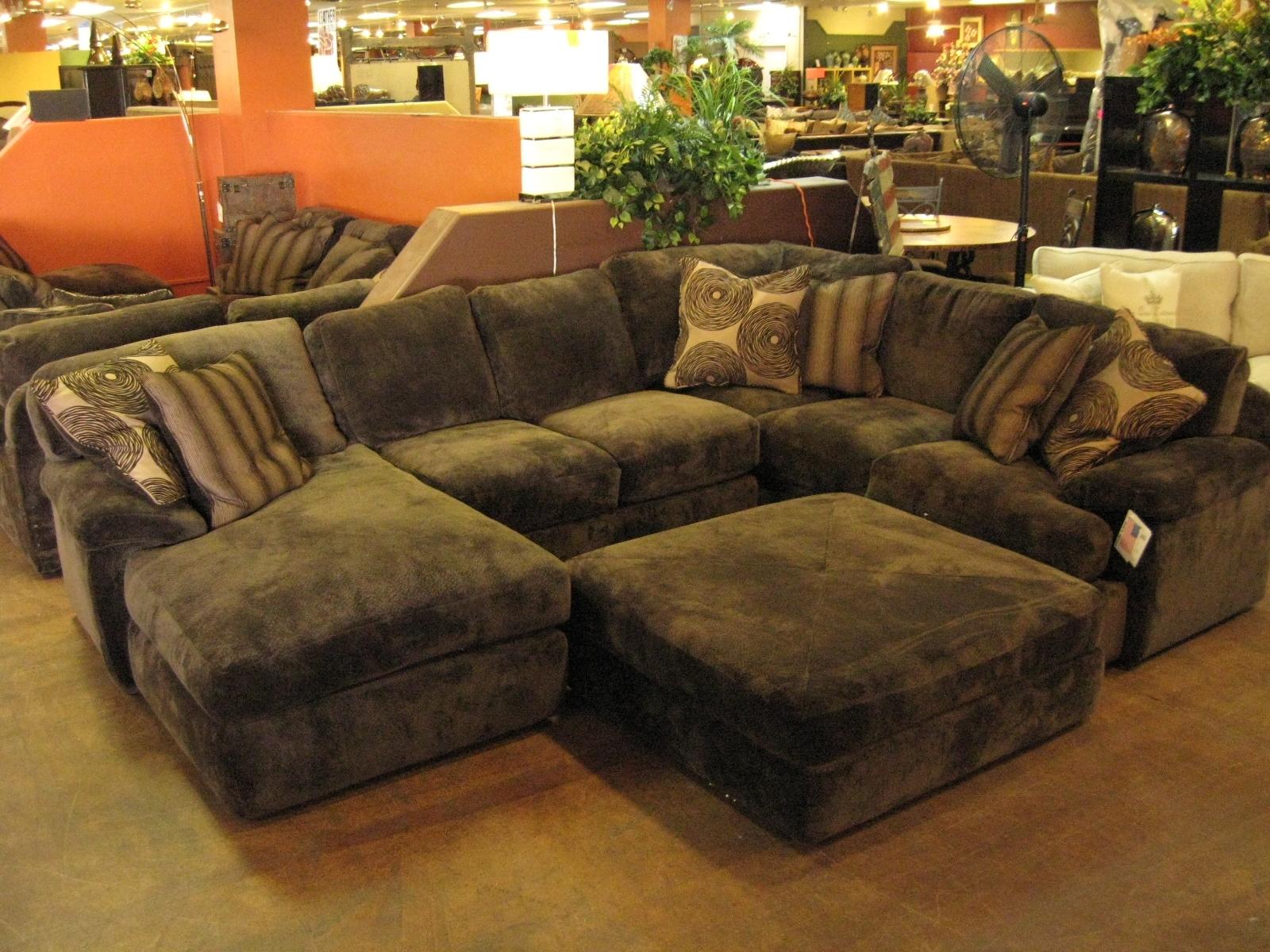 Black Velvet Fabric Sectional Sleeper Sofa With Chaise Lounge And in Sectional Sleeper Sofas With Ottoman (Image 3 of 15)