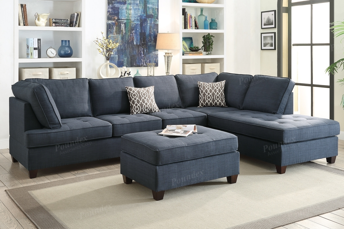 Blue Fabric Sectional Sofa - Steal-A-Sofa Furniture Outlet Los pertaining to Blue Sectional Sofas (Image 4 of 15)