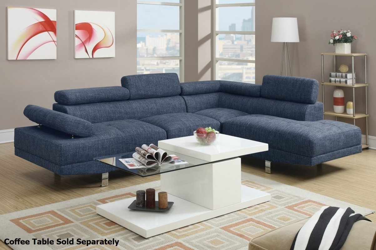 Blue Sectional Sofa Suitable With Blue Velvet Sectional Sofa In regarding Blue Sectional Sofas (Image 6 of 15)