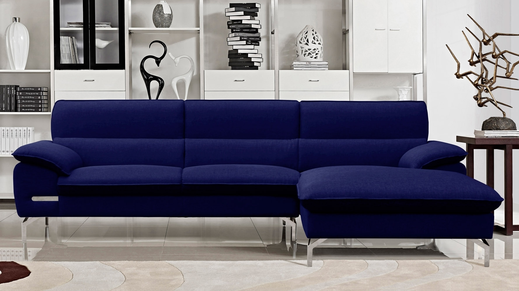 Blue Sectional Sofa With Chaise • Sectional Sofa with Blue Sectional Sofas (Image 9 of 15)