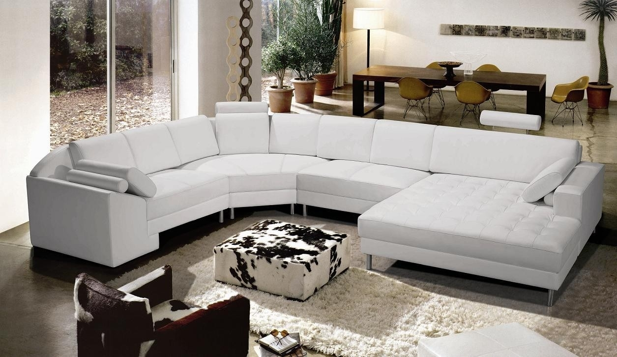 Bonded Leather White Sectional Sofa - S3Net - Sectional Sofas Sale intended for Vt Sectional Sofas (Image 1 of 10)
