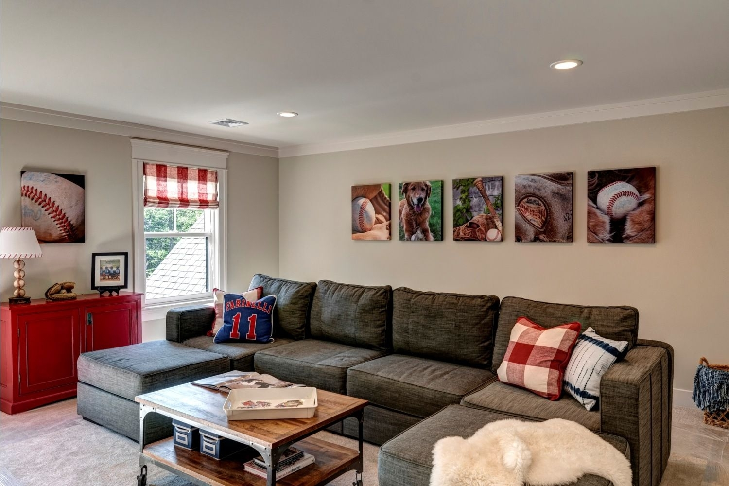 Bonus Room – Family Room – Children's Hangout With Baseball Theme For Harrisburg Pa Sectional Sofas (View 6 of 10)