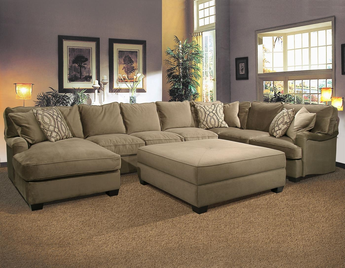 Bostonian Sectional Sofafairmont Seating | Home | Pinterest with regard to Sofas With Large Ottoman (Image 2 of 10)