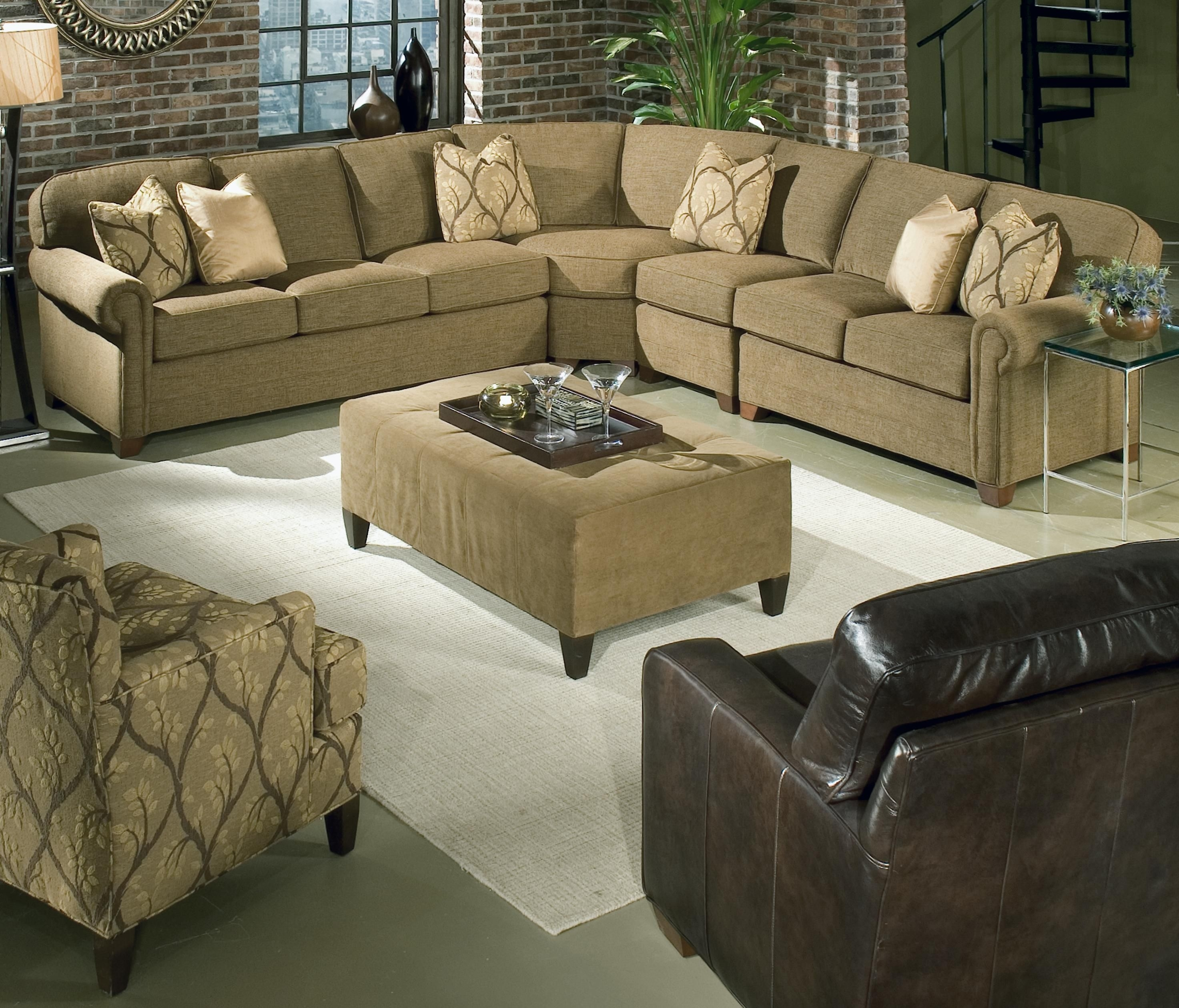 Brighton 4 Piece Sectionalking Hickory | All Things Softball Intended For Salt Lake City Sectional Sofas (View 4 of 10)