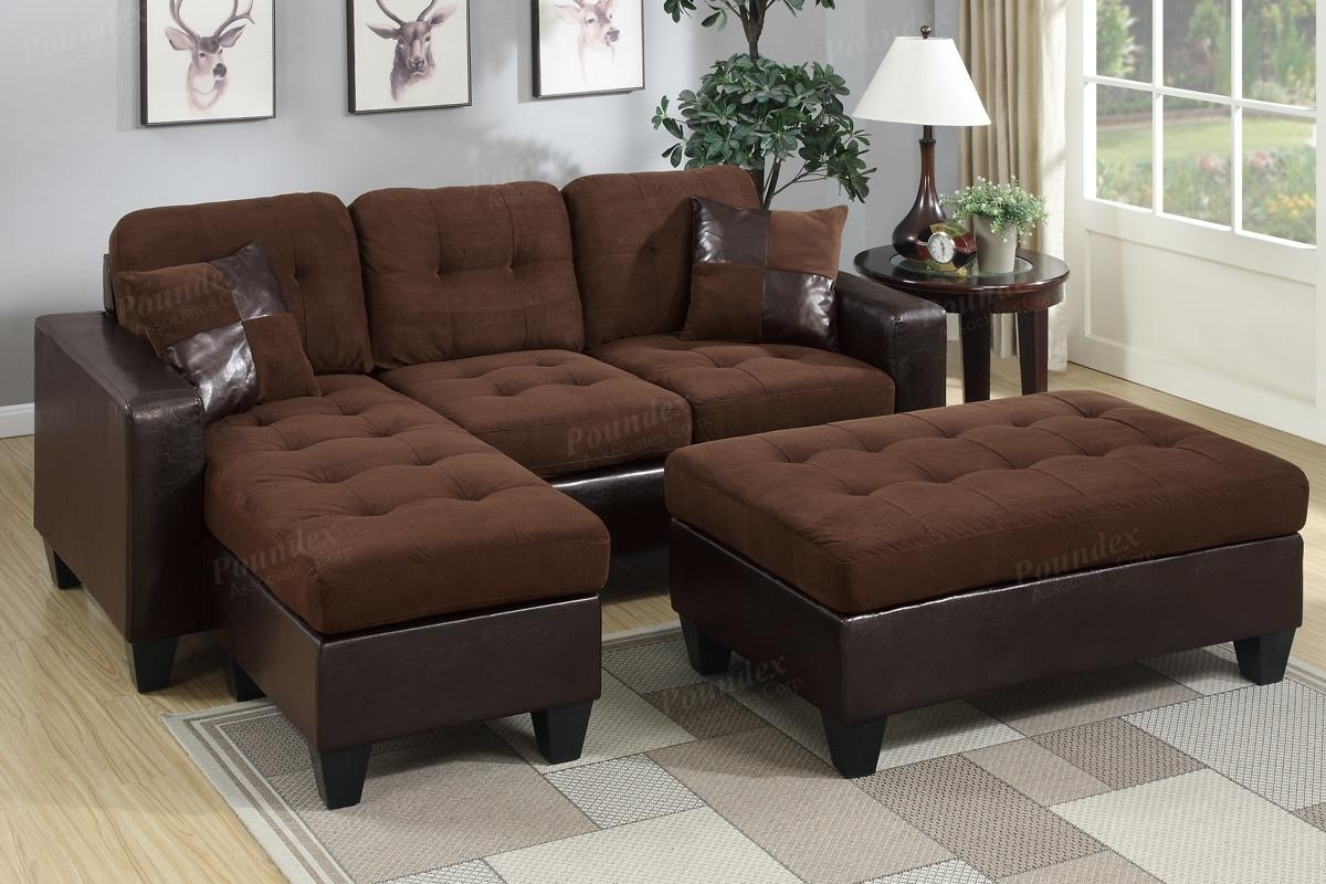 Brown Leather Sectional Sofa And Ottoman - Steal-A-Sofa Furniture in Leather Sectionals With Ottoman (Image 5 of 15)