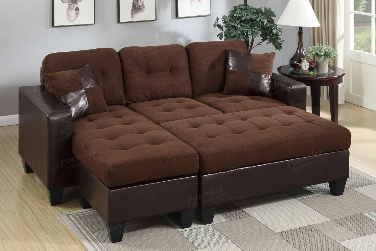 Brown Leather Sectional Sofa And Ottoman – Steal A Sofa Furniture In Sofas With Chaise And Ottoman (View 2 of 10)