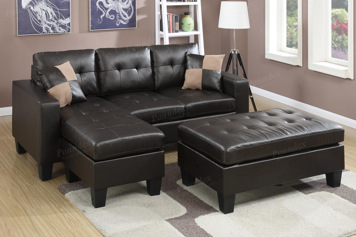Brown Leather Sectional Sofa And Ottoman - Steal-A-Sofa Furniture pertaining to Sectionals With Ottoman (Image 6 of 15)