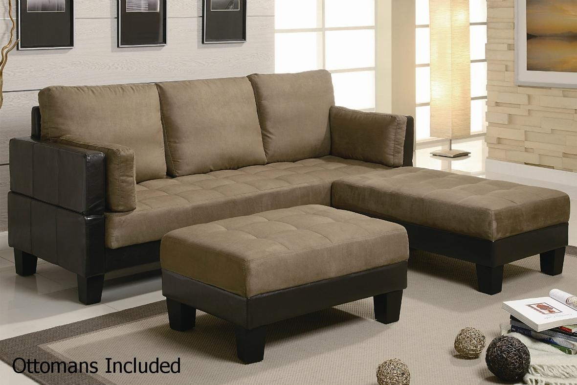 Brown Leather Sectional Sofa And Ottoman – Steal A Sofa Furniture With Regard To Sectional Sofas That Turn Into Beds (View 3 of 10)