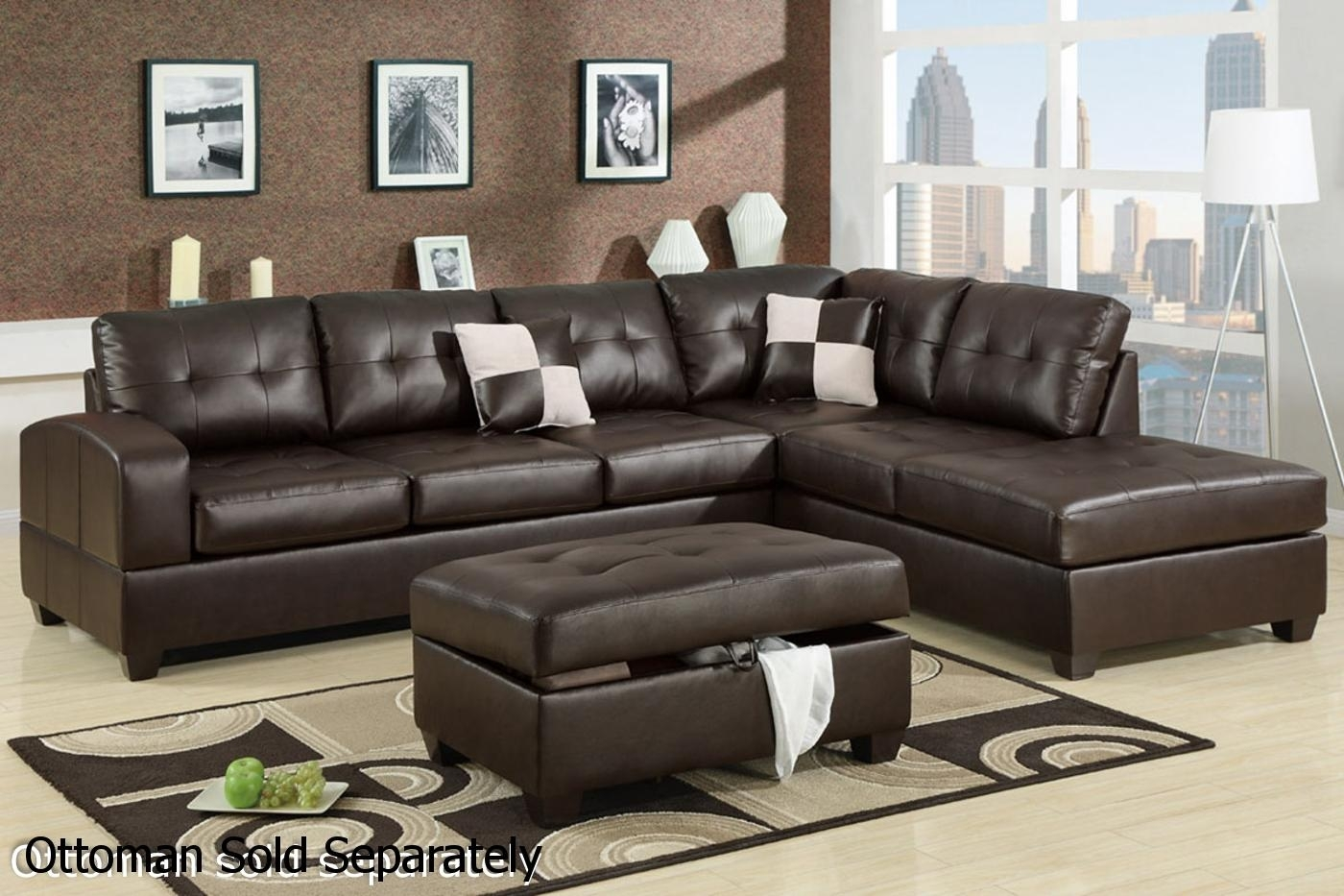 Brown Leather Sectional Sofa – Steal A Sofa Furniture Outlet Los In Leather Sectional Sofas (View 6 of 10)