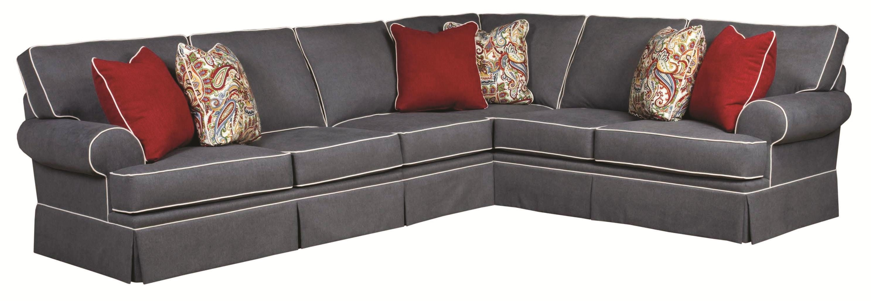 Broyhill Furniture Emily Traditional 3 Piece Sectional Sofa With Regarding Sam Levitz Sectional Sofas (View 10 of 10)