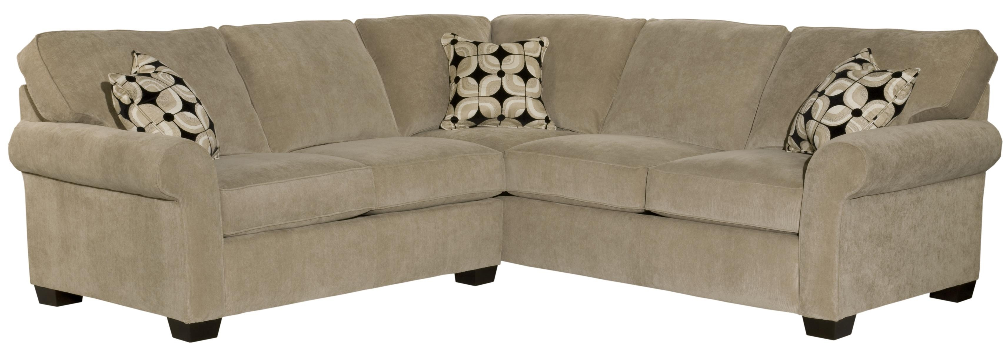 Broyhill Furniture Ethan Two Piece Sectional With Corner Sofa - Ahfa with Sectional Sofas at Broyhill (Image 3 of 15)