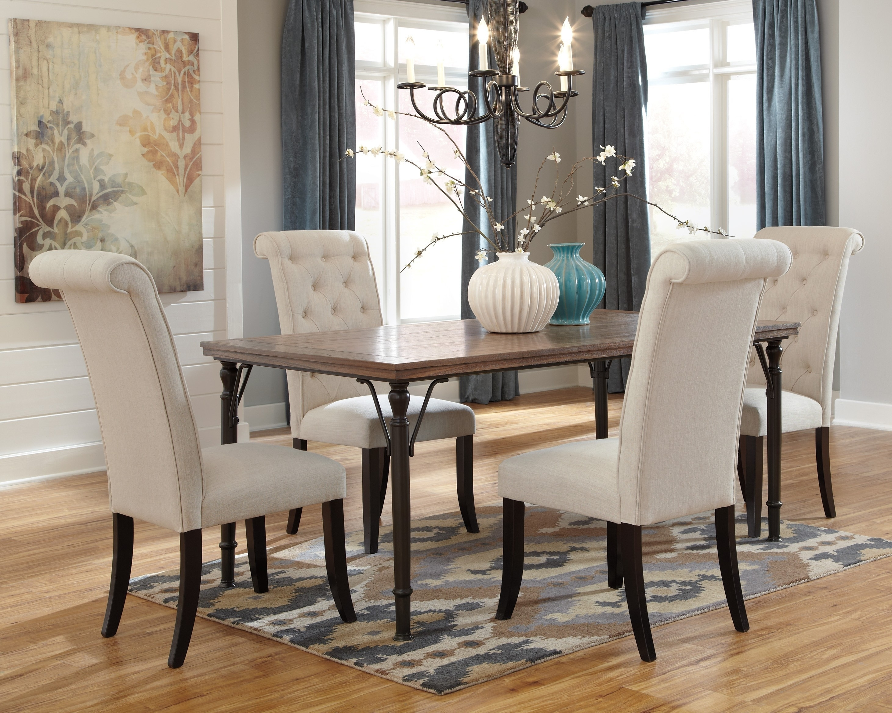 Buy Ashley Furniture Tripton Rectangular Dining Room Table Set with Sofa Chairs With Dining Table (Image 3 of 10)