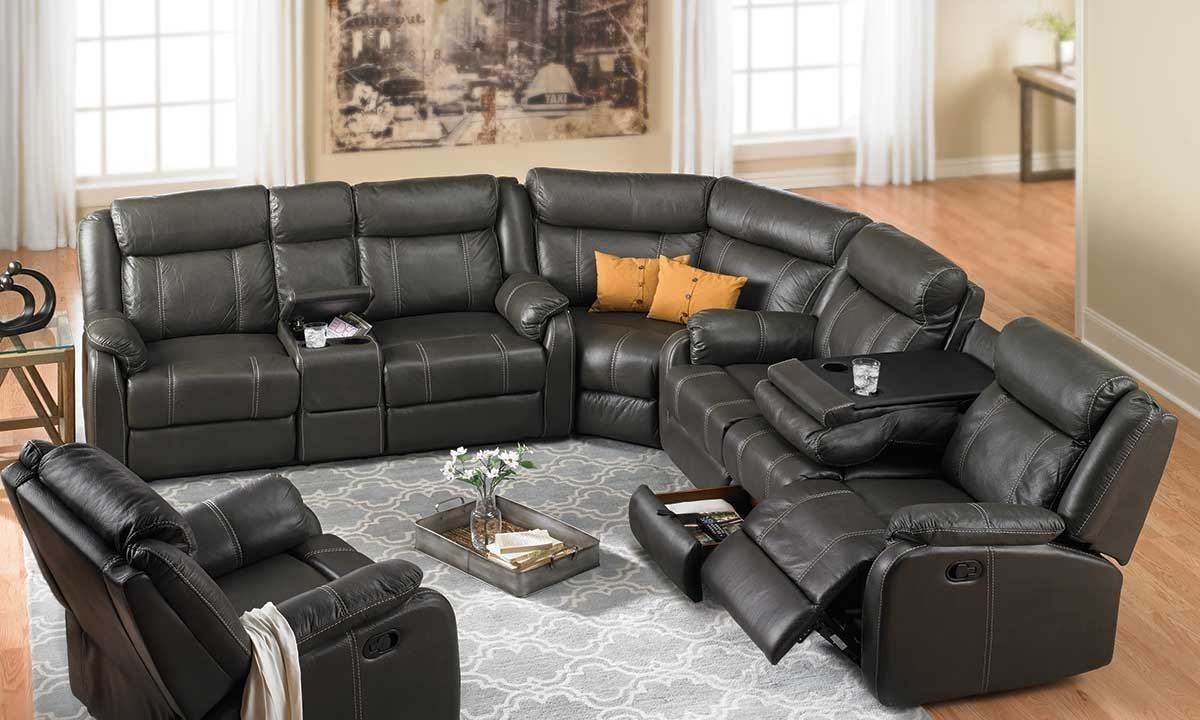 Cache Reclining Storage Sectional | Haynes Furniture, Virginia's with regard to Reclining Sectional Sofas (Image 3 of 10)