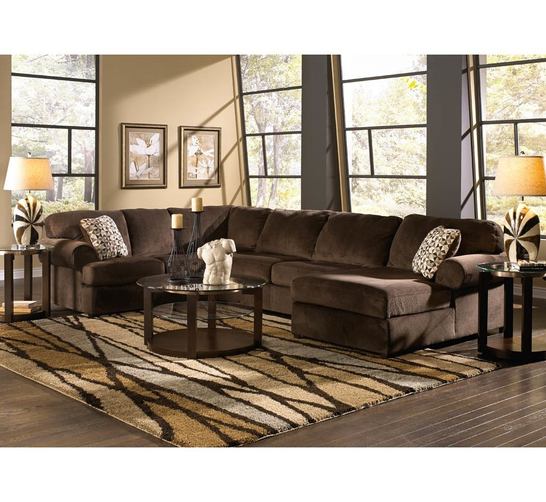 Calvin Sectional W/2 Pillows | Badcock &more | Den Furniture Ideas Pertaining To Sectional Sofas At Badcock (View 2 of 15)
