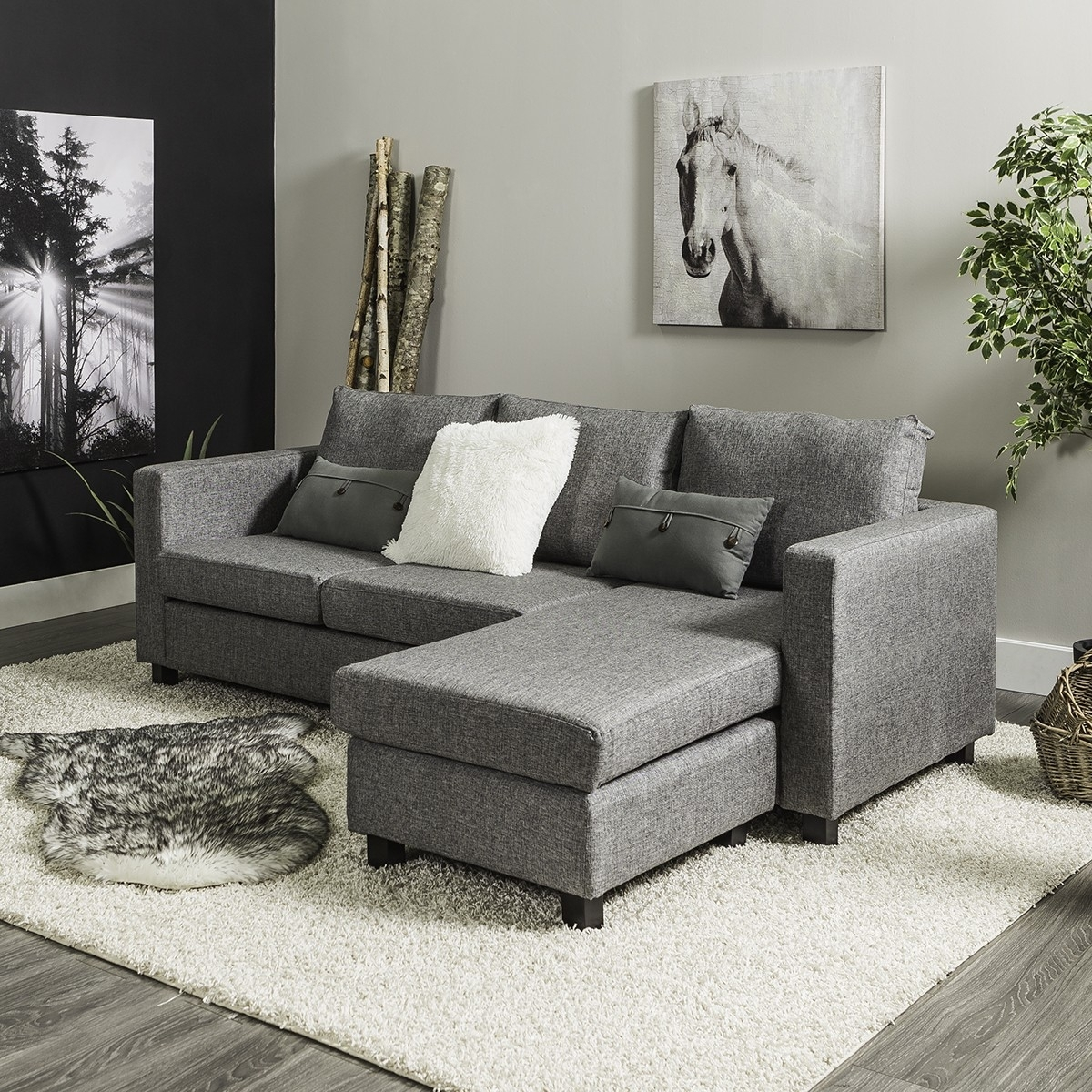 Casa Corner Sofa (Grey) for Jysk Sectional Sofas (Image 2 of 10)