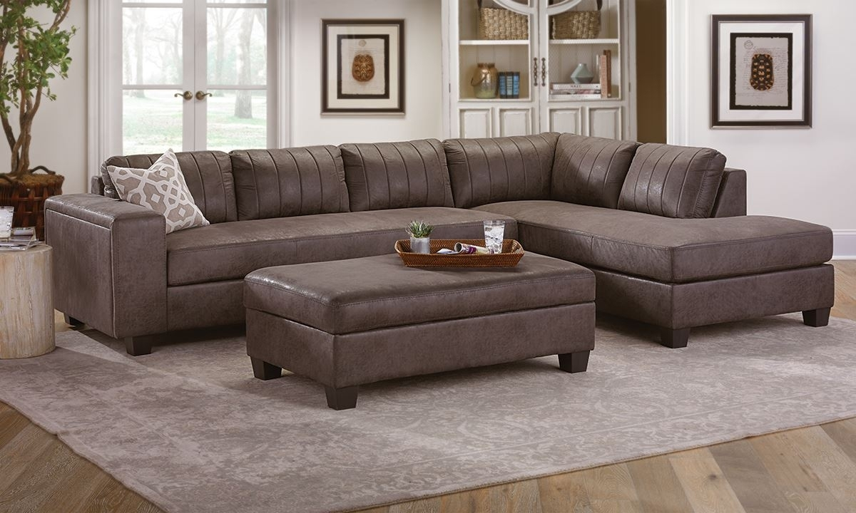 Chaise Sectional With Storage Ottoman | The Dump Luxe Furniture Outlet Inside Cheap Sectionals With Ottoman (View 6 of 15)