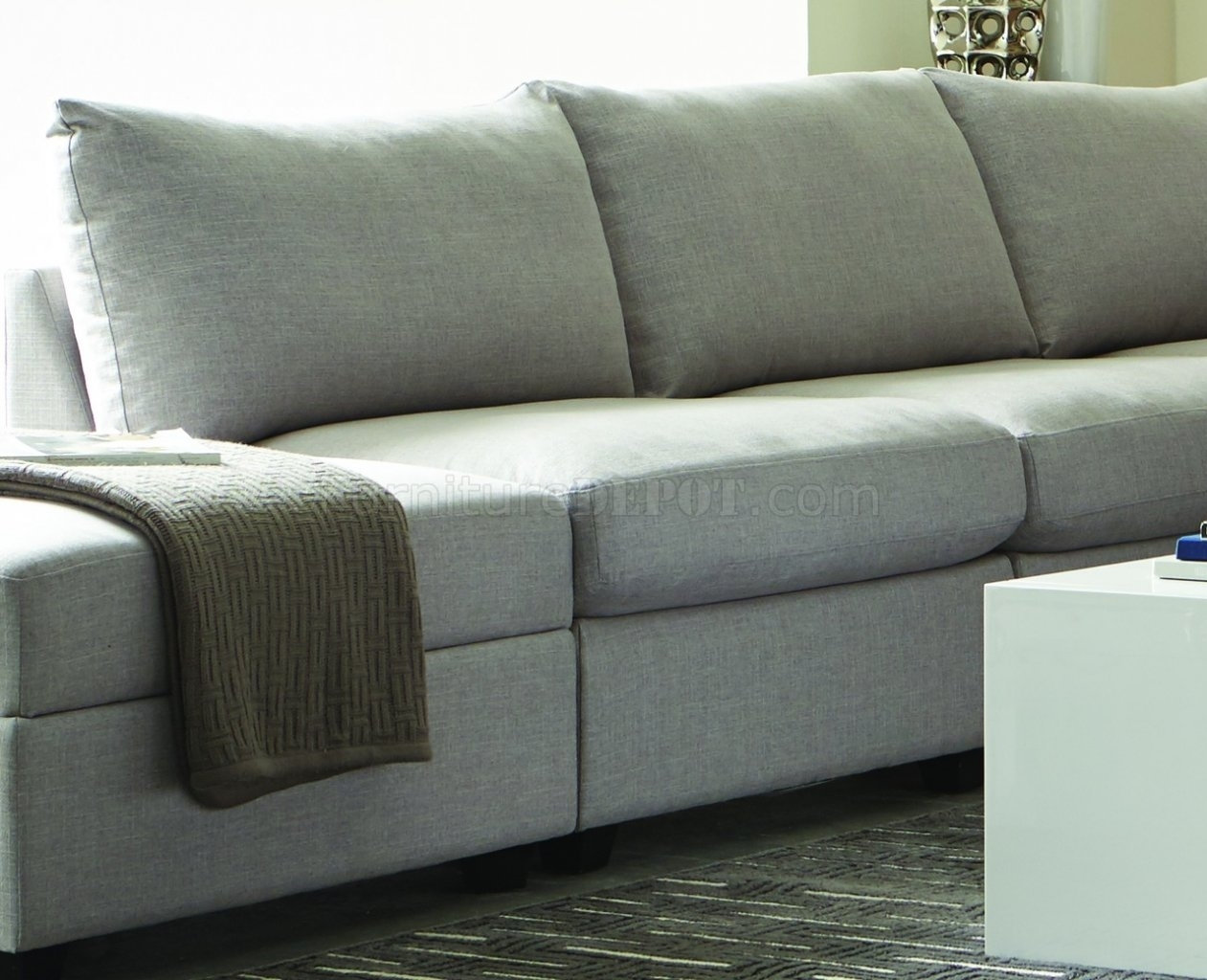 Charlotte 551221 - Scott Living - Coaster - Grey Sectional with regard to Charlotte Sectional Sofas (Image 7 of 10)