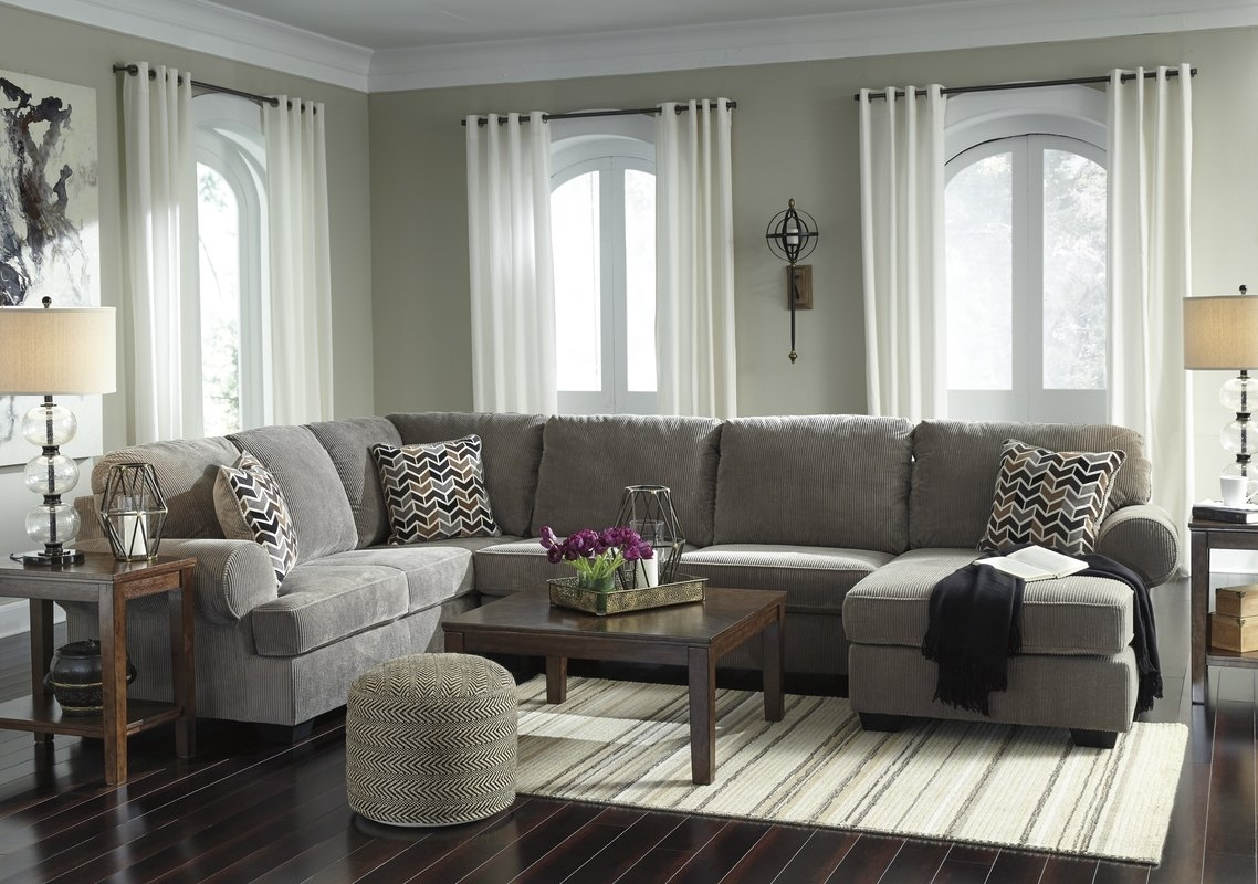 Charlton Home Ellicottville U-Shaped Sectional & Reviews | Wayfair with regard to U Shaped Sectionals (Image 3 of 15)