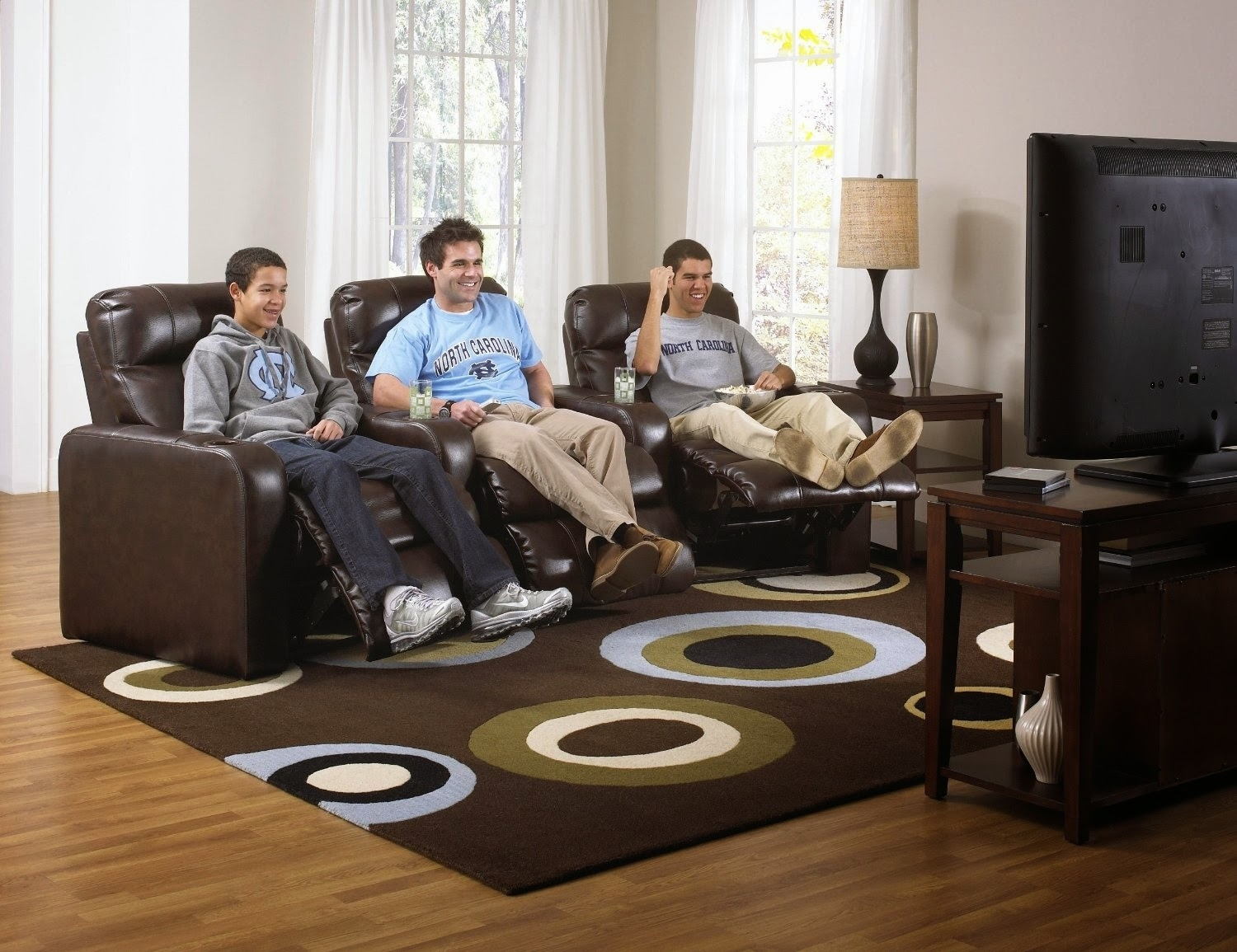Cheap Reclining Loveseat Sale : Curved Leather Reclining Sofa And inside Curved Recliner Sofas (Image 3 of 10)