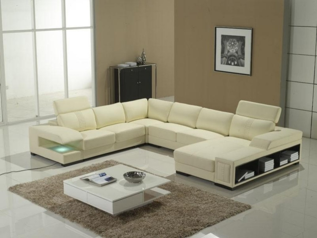 Chic U-Shaped Sectional Sofas You Must Have : Awesome Offwhite for Modern U Shaped Sectionals (Image 1 of 15)