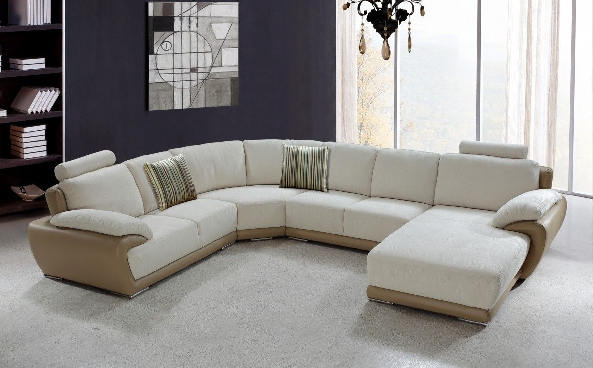 Chic U Shaped Sectional Sofas You Must Have : Awesome Vanilla Pertaining To Modern U Shaped Sectional Sofas (View 12 of 15)