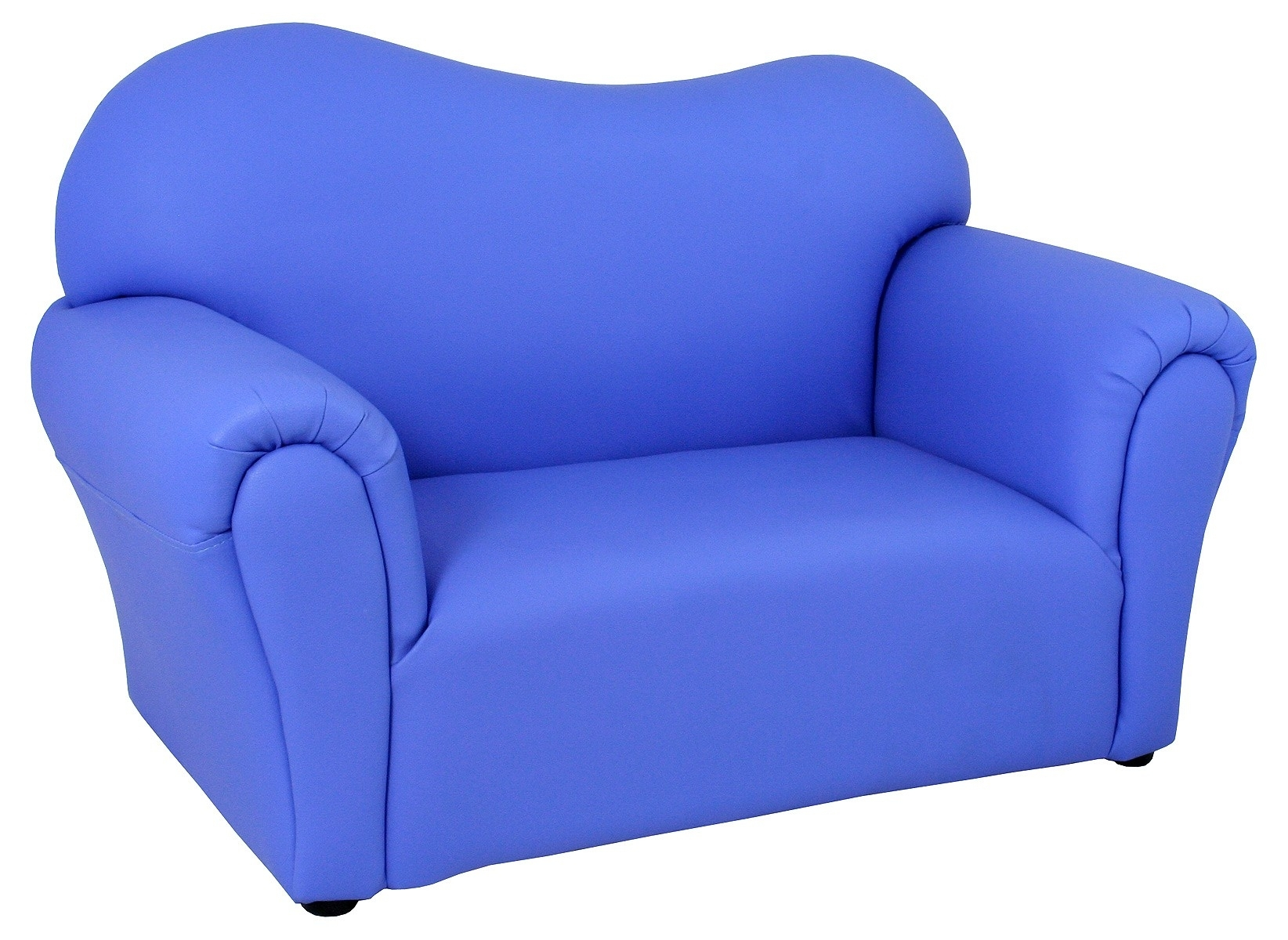Childrens Blue Mini Sofa - Be Fabulous! throughout Childrens Sofas (Image 2 of 10)