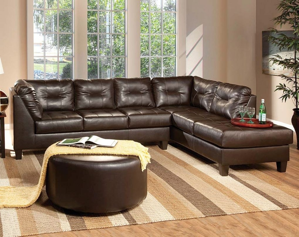 Chocolate Brown Leather Sectional #1 Enchanting Chocolate Brown In The Bay Sectional Sofas (View 7 of 10)