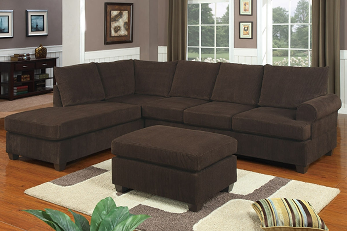 Chocolate Brown Sectional Sofa With Chaise - Fjellkjeden for Chocolate Brown Sectional Sofas (Image 4 of 10)