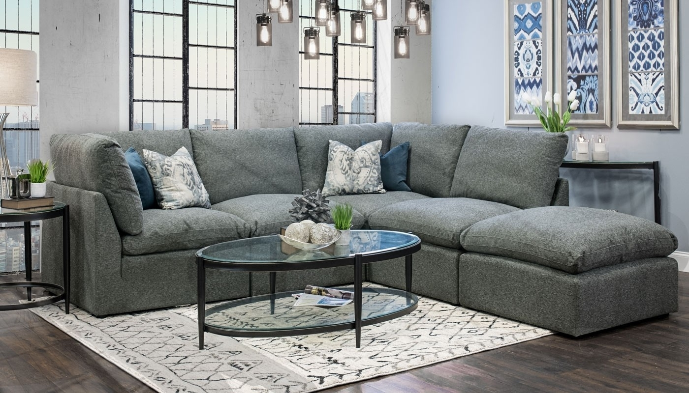 Cloud Sectional - Home Zone Furniture | Living Room intended for Home Zone Sectional Sofas (Image 3 of 10)