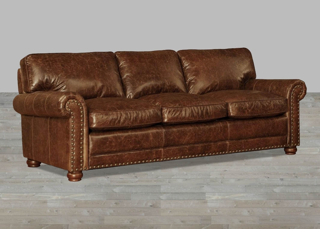 Coco Brompton Leather Vintage Sofa intended for Vintage Sofas (Image 1 of 10)