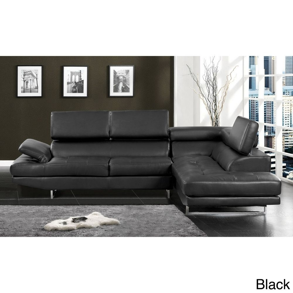 Contemporary 2-Piece Sectional With Adjustable Headrest | Overstock with Overstock Sectional Sofas (Image 3 of 10)