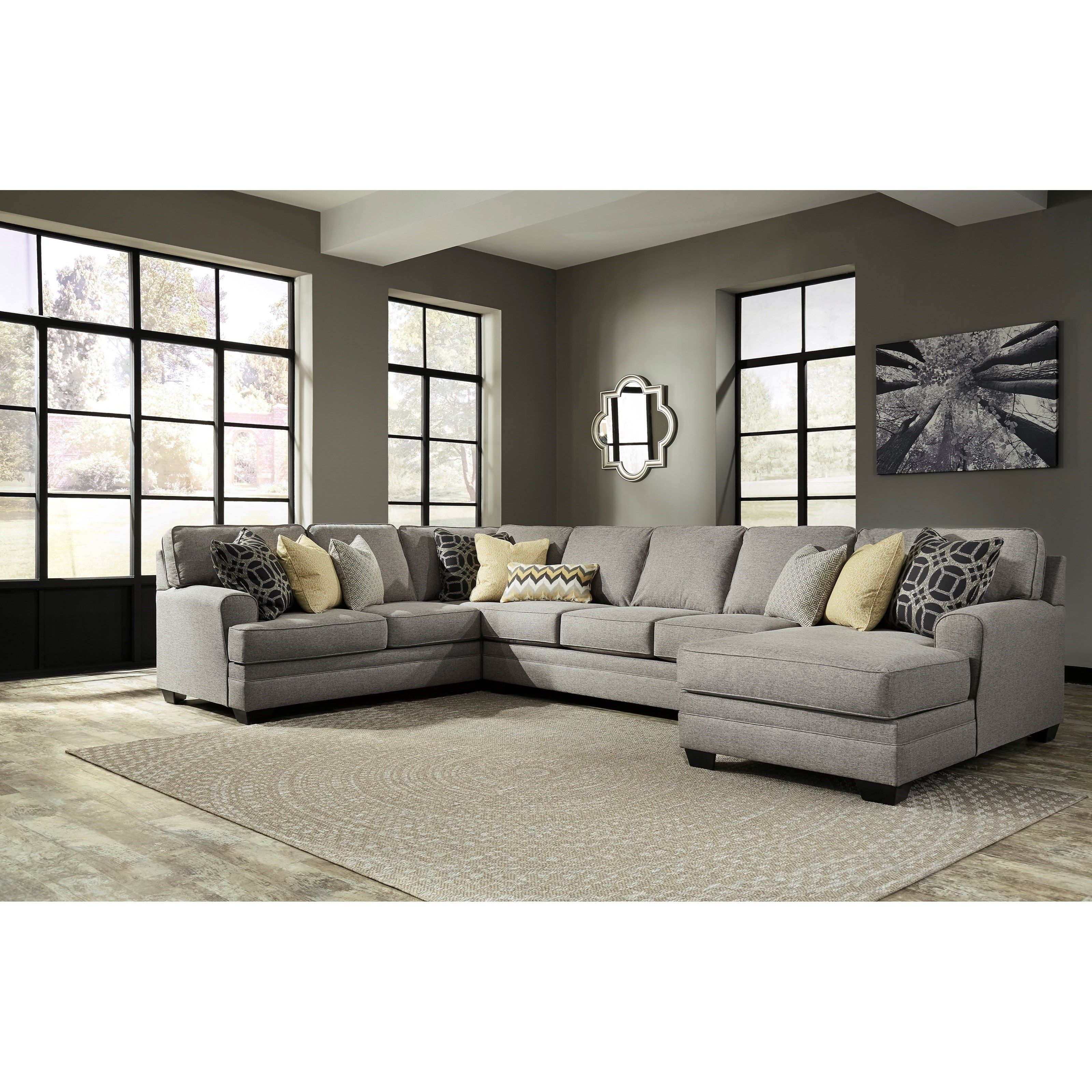 Contemporary 4 Piece Sectional With Chaise & Armless Sofa | Sofas Regarding Eau Claire Wi Sectional Sofas (View 7 of 10)