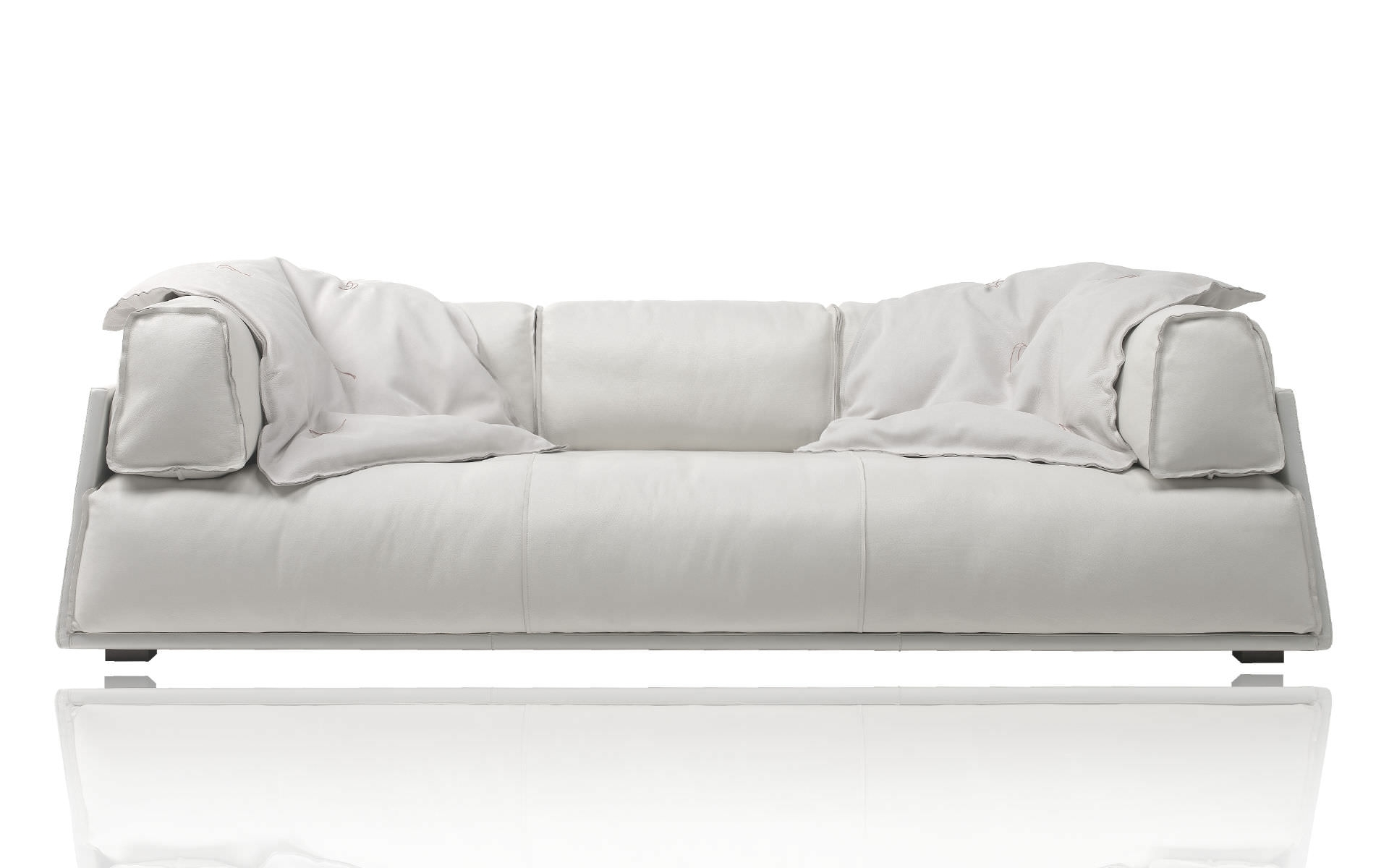 Contemporary Leather Sofa – Hard & Softpaola Navone – Baxter Throughout Soft Sofas (View 2 of 10)