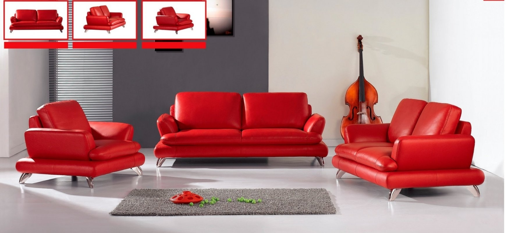 Contemporary Red Leather Sofa 66 For Living Room Sofa Regarding Red Regarding Red Leather Sofas (View 13 of 15)