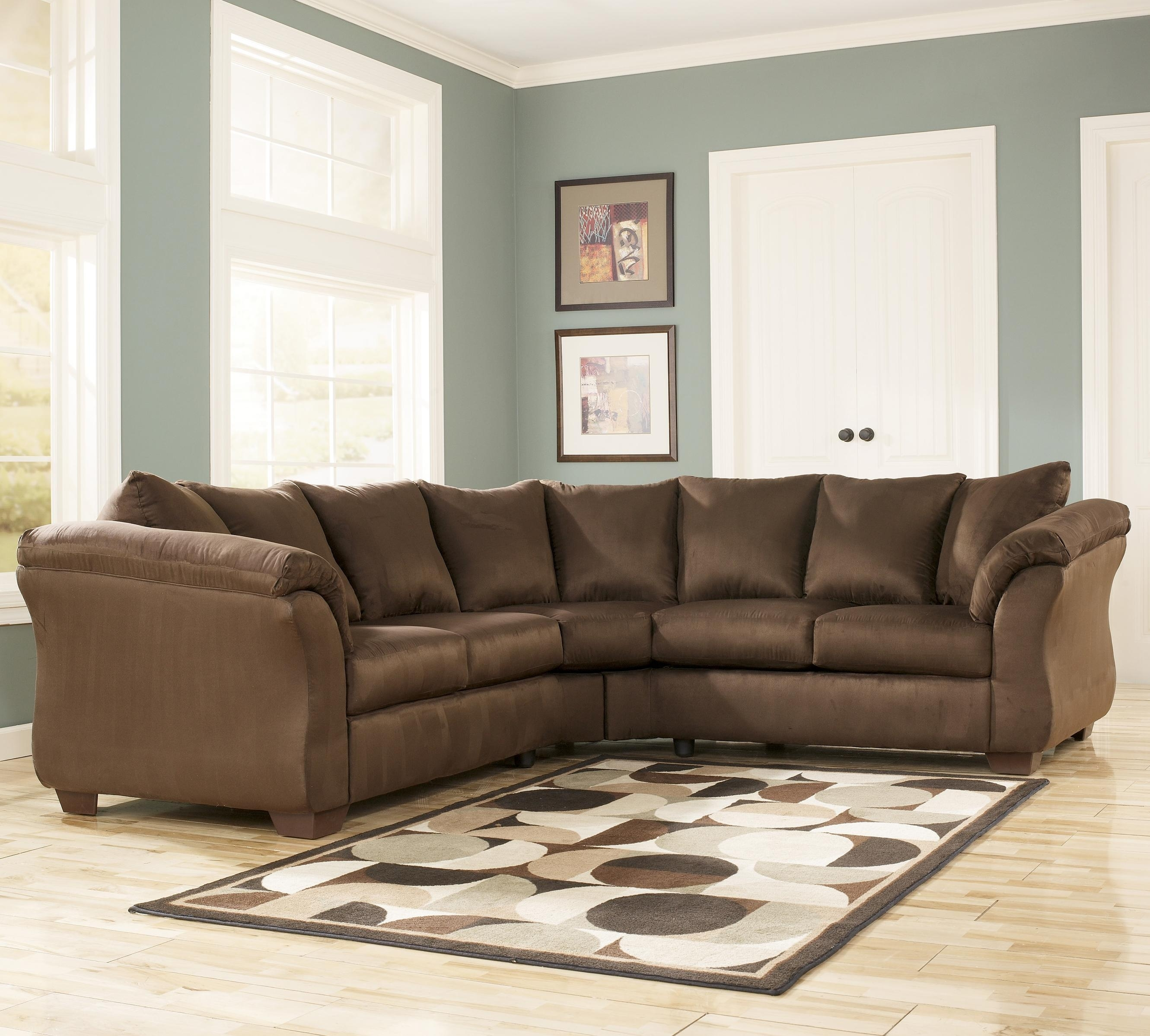 Contemporary Sectional Sofa With Sweeping Pillow Armssignature Regarding Harrisburg Pa Sectional Sofas (View 9 of 10)