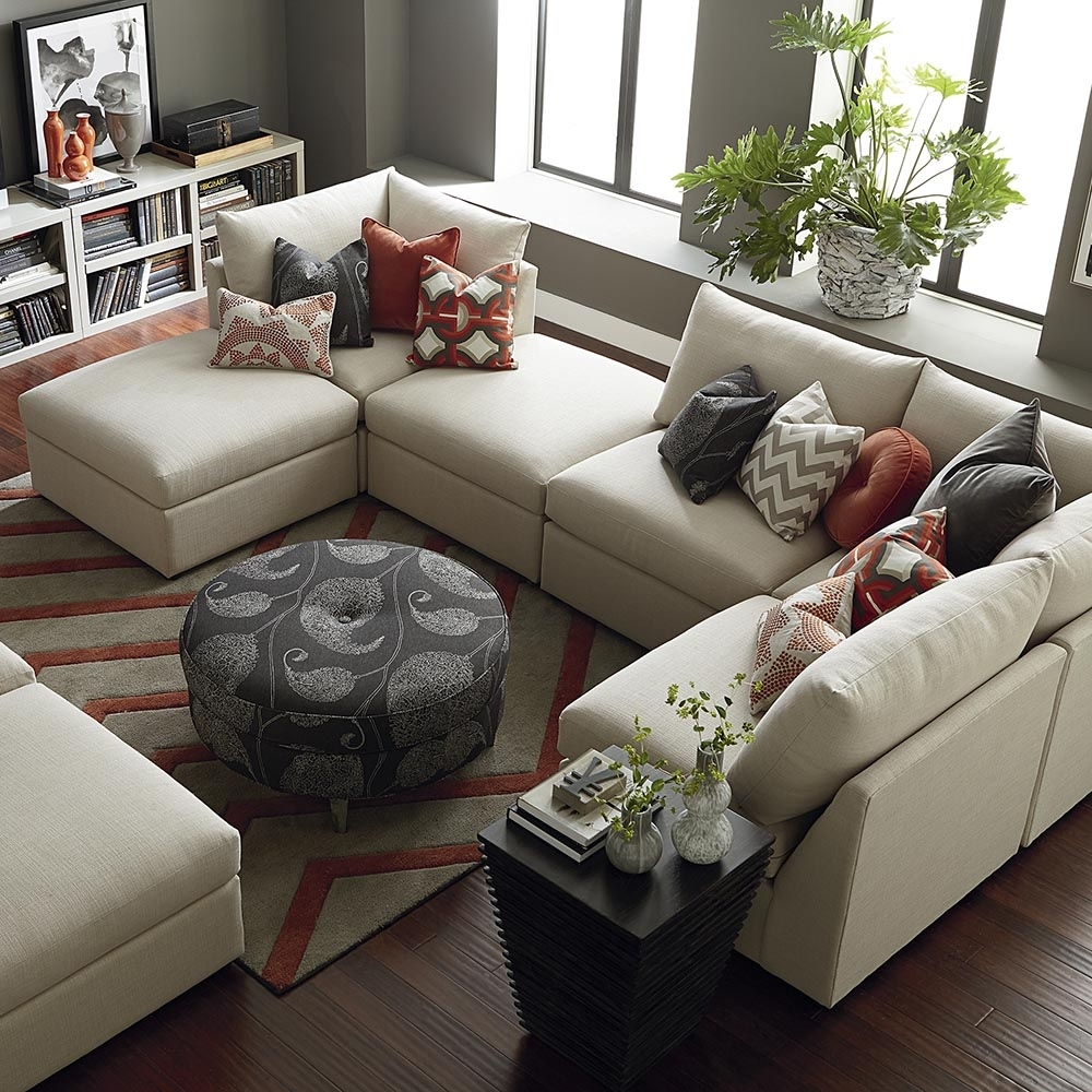 Contemporary U Shaped Sectional | Bassett Home Furnishings within Modern U Shaped Sectionals (Image 2 of 15)