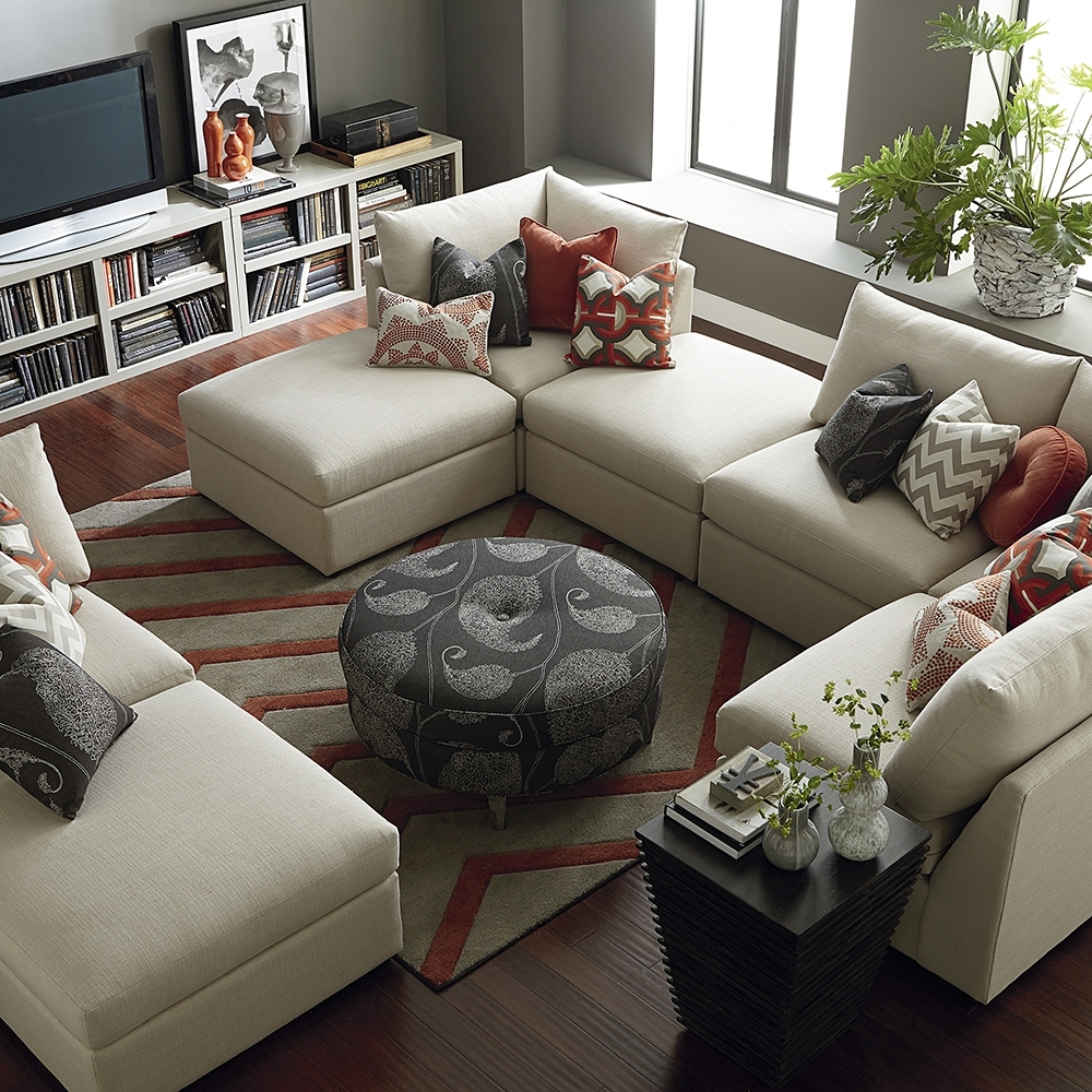 Contemporary U Shaped Sectional | Bassett Home Furnishings within U Shaped Sectionals (Image 5 of 15)