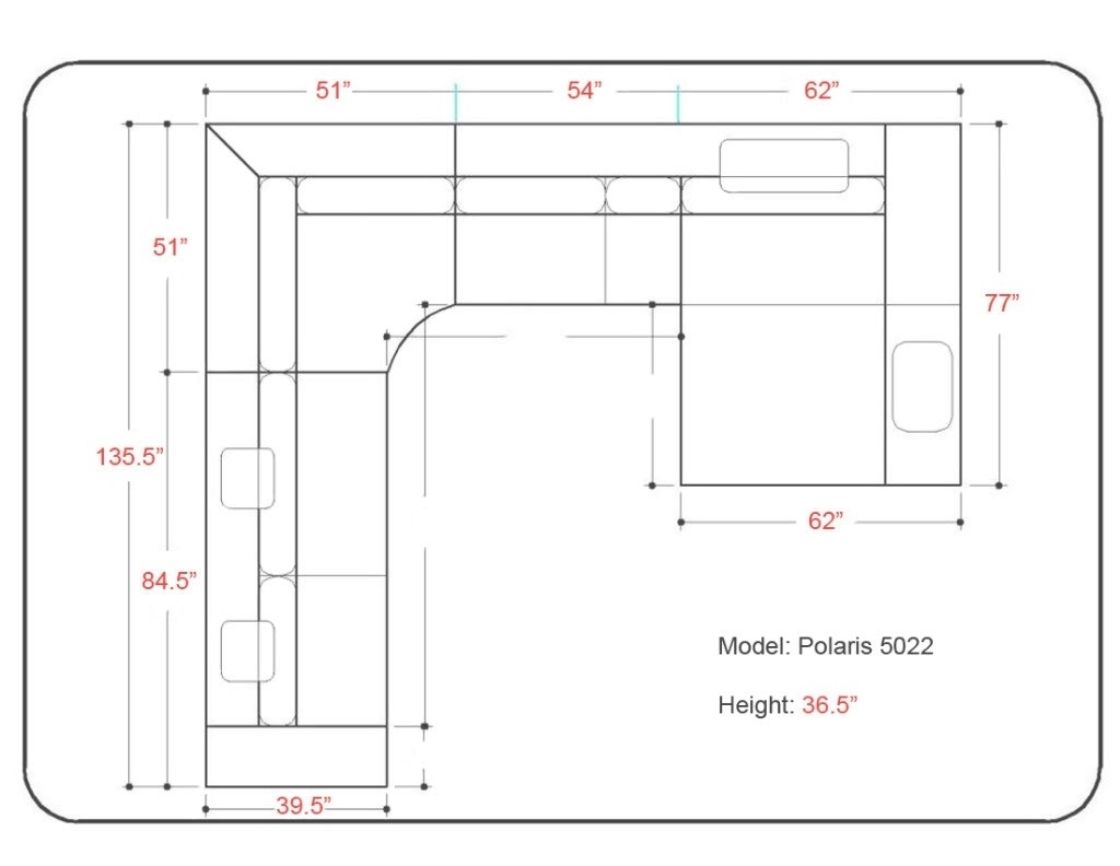 Cool Outstanding Sectional Sofa Measurements 47 On Sectional Sofas in Measurements Sectional Sofas (Image 5 of 10)