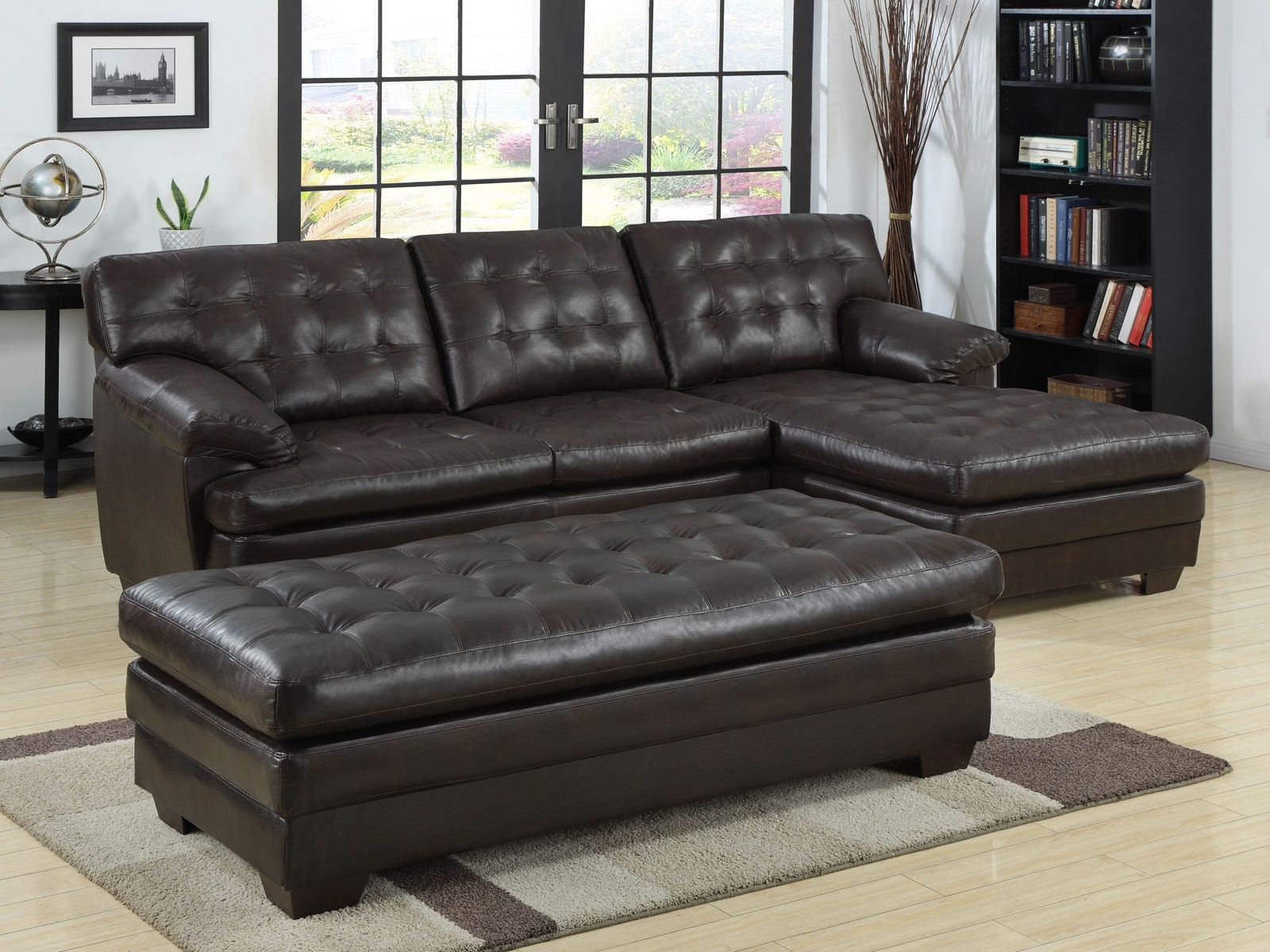 Cool Sectional Sofa With Chaise And Ottoman On Furniture Design regarding Sectional Sofas With Chaise and Ottoman (Image 4 of 15)