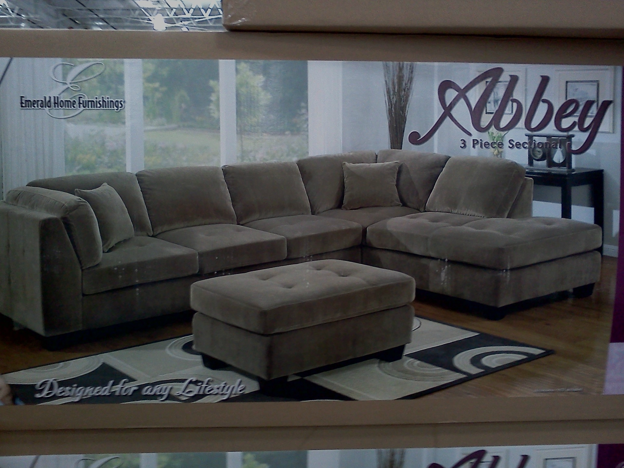 Costco Emerald Home Modular Sectional Slickdeals – Kaf Mobile Homes For Sectional Sofas At Costco (View 5 of 15)