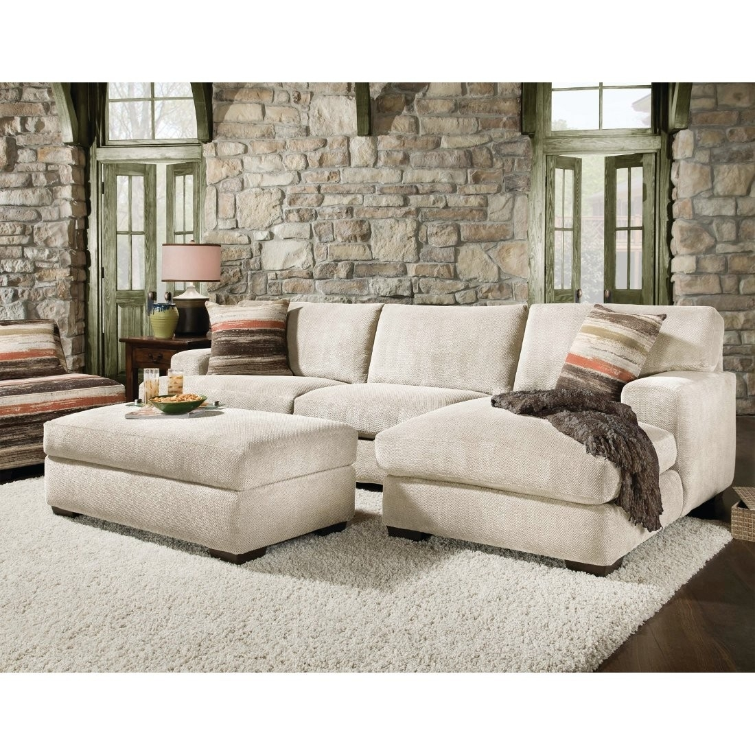Couch With Large Ottoman - Mogams with Sectional Couches With Large Ottoman (Image 7 of 15)