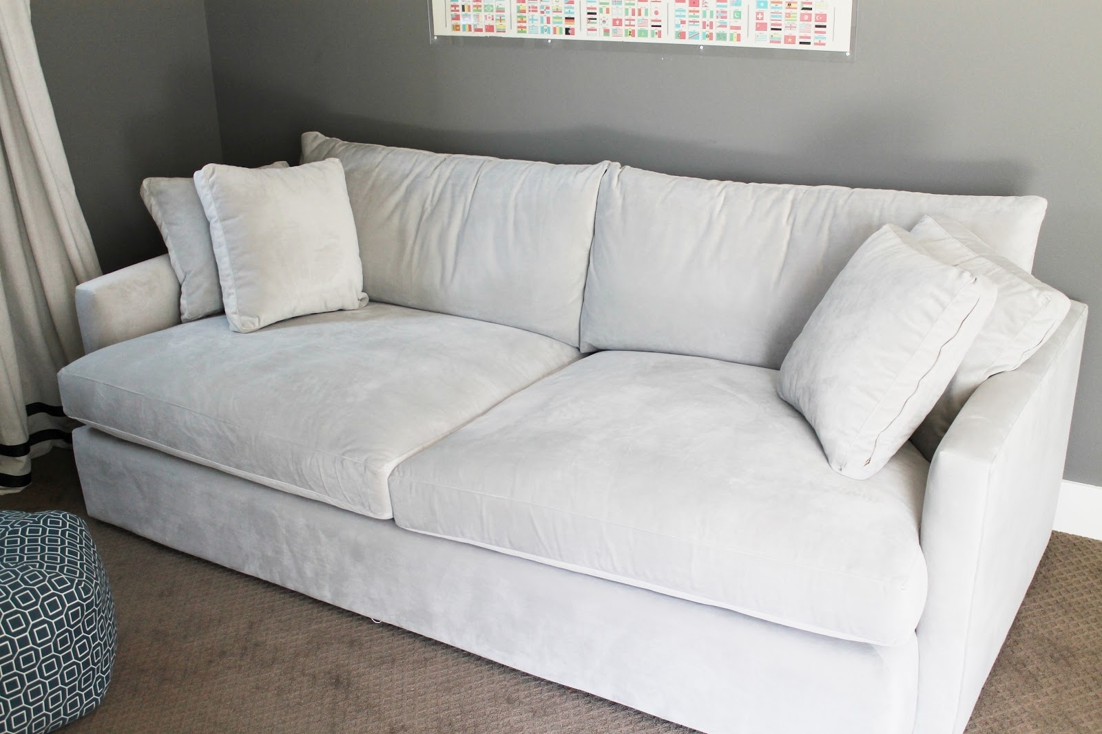 Couch. Wonderful Deep Set Couch: Couch-Set-Which-Is-In-White-Cloth within Deep Cushion Sofas (Image 2 of 10)