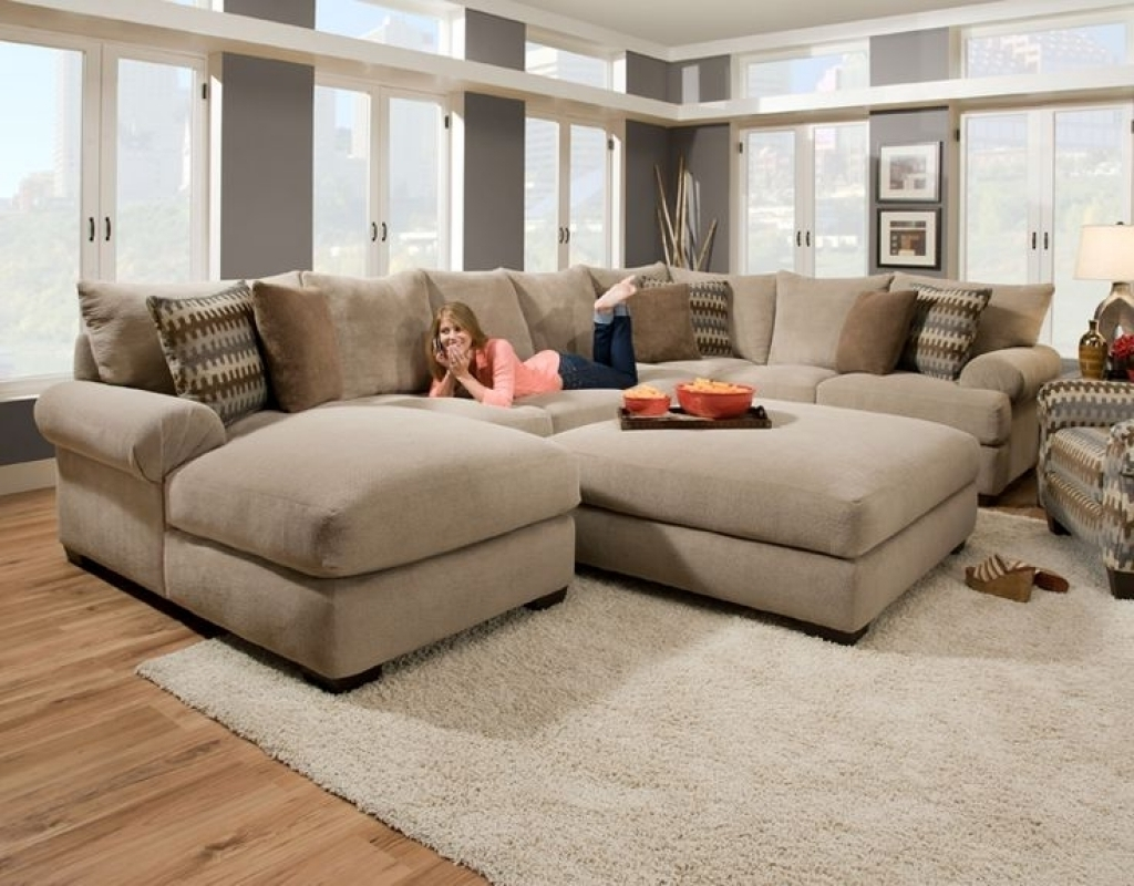 Cozy Oversized Sectional Sofa — Awesome Homes : Super Comfortable pertaining to Large Sectional Sofas (Image 3 of 10)