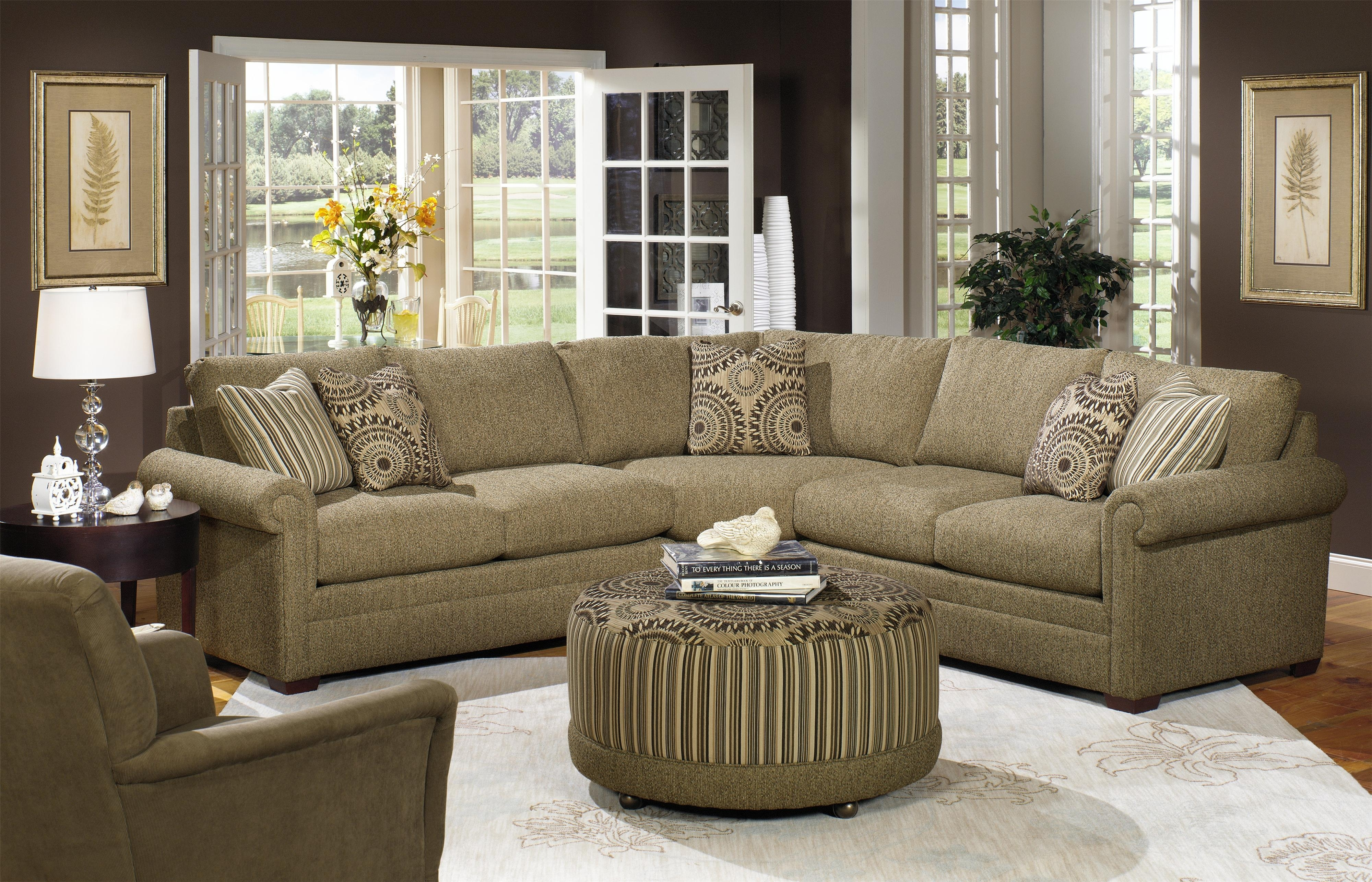 Craftmaster F9 Custom Collection Customizable Three Piece Sectional regarding Craftsman Sectional Sofas (Image 2 of 10)