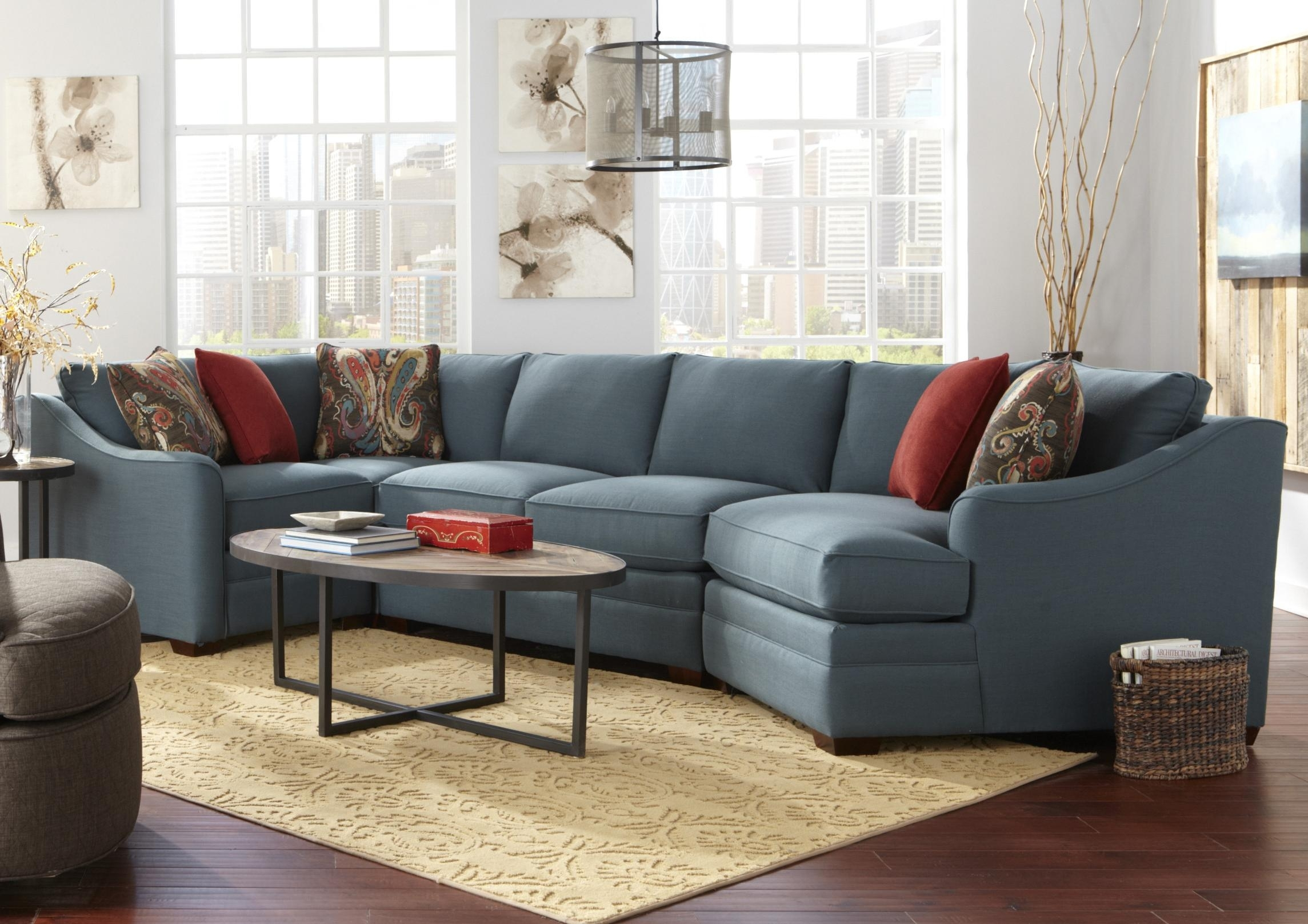 Craftmaster F9 Custom Collection Four Piece <B>Customizable</b with Cuddler Sectional Sofas (Image 4 of 10)